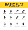 basic set microphone icons vector image vector image
