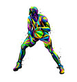 basketball player abstract multicolored vector image vector image