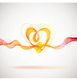Beautiful Valentines background with abstract vector image vector image