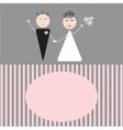 Beautiful wedding couple is enjoying wedding vector image vector image