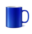 blue and white ceramic mug vector image