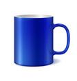 blue and white ceramic mug vector image vector image