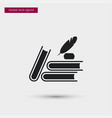 books with ink icon simple school element symbol vector image