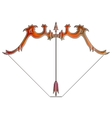 Bright bow and arrow zodiac Sagittarius sign