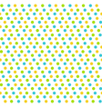 Bright fun abstract seamless pattern with dots vector image