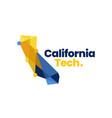 california technology tech geometric polygonal vector image