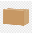 carton box container mockup realistic style vector image vector image