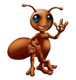 cartoon ant mascot vector image vector image