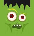cartoon zombie in flat style happy halloween vector image vector image