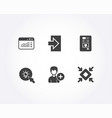 coffee vending login and web traffic icons add vector image