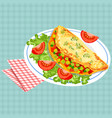 colorful tasty breakfast vector image vector image