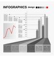 Conceptual blank - monochrome infographics design vector image