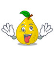 crazy sweet quince isolated on mascot cartoon vector image vector image
