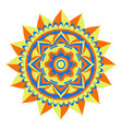 decorative colored mandala vector image vector image