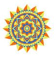 decorative colored mandala vector image