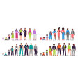 different ages people characters little baby boy vector image