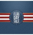 Flag Day Sale festive Badge with Ribbon and Shadow vector image vector image