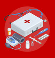 flat concept online medical support family vector image