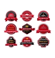 Flat quality product guarantee badges or labels vector image vector image