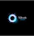 futuristic concept logo light bulb abstract vector image vector image