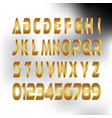 gold alfabeto lettar vector image vector image