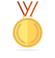Golden Medal Flat Style vector image vector image