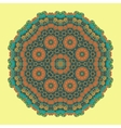 Green Mandala Background for greeting card vector image vector image
