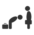Greeting etiquette business situation icon vector image