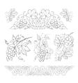 Hand drawn of pencil grapes set vector image vector image