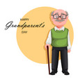 handsome smiling old man cheerful grandfather vector image vector image