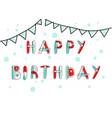 happy birthday card and banner vector image vector image