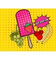 Ice cream pop art style vector image vector image