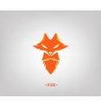 image an fox head on white background vector image