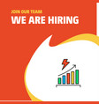 join our team busienss company graph rising we vector image vector image