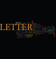 letter box text background word cloud concept vector image vector image