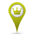 location crown icon vector image vector image