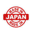made in japan red stamp on white background vector image