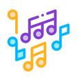 melody music mono and treble notes icon vector image vector image