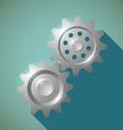 Metal gears Stock vector image vector image