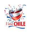 National flag chile and inscription