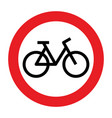 no cycling allowed sign vector image vector image