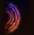 purple orange circle digital spiral abstract sheet vector image vector image