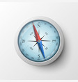 realistic magnetic compass vector image