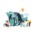 recycling concept cartoon characters protect vector image