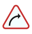 Right hand curve vector image vector image