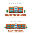 School building with slogan vector image vector image