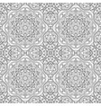 seamless doodle pattern black and white vector image