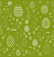 seamless easter pattern with eggs and rabbit vector image vector image