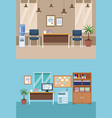 set of office interior vector image vector image