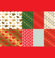 simple geometric xmas repeatable pattern set vector image